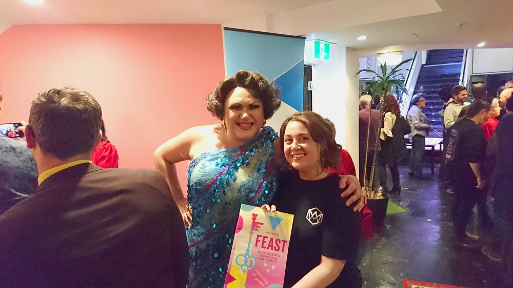 Cabaret Artist Trevor Ashley and Rowena Garcia at Feast Festival Launch 2017