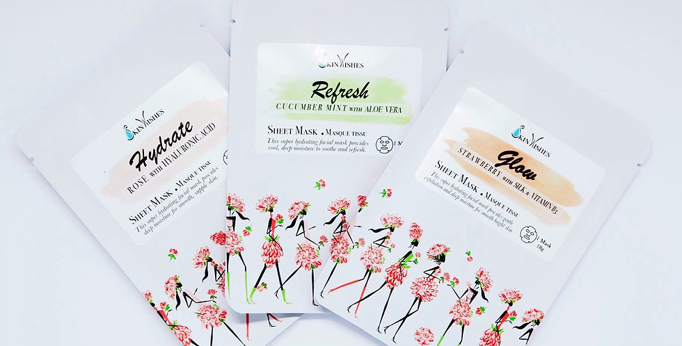 Sheet Masks- set of 3