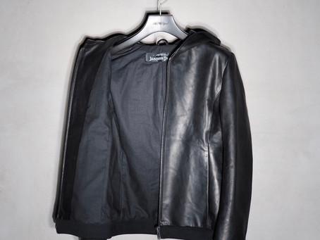 ビスポークの高級レザーパーカー/Bespoke high grade leather hoodie