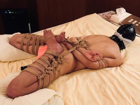 【完全奴隷調教コース】若者と縄/I tied young masochist.