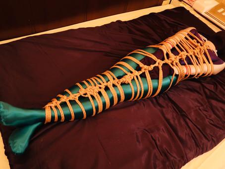 ナイロンフェティッシュ・緊縛・スリープサック・寸止め/Nylon fetish, Rope bondage, Sleep sack, Tease and denial