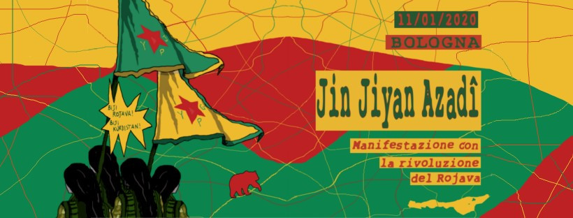 Jin, Jiyan, Azadi: manifestazione con la rivoluzione del Rojava