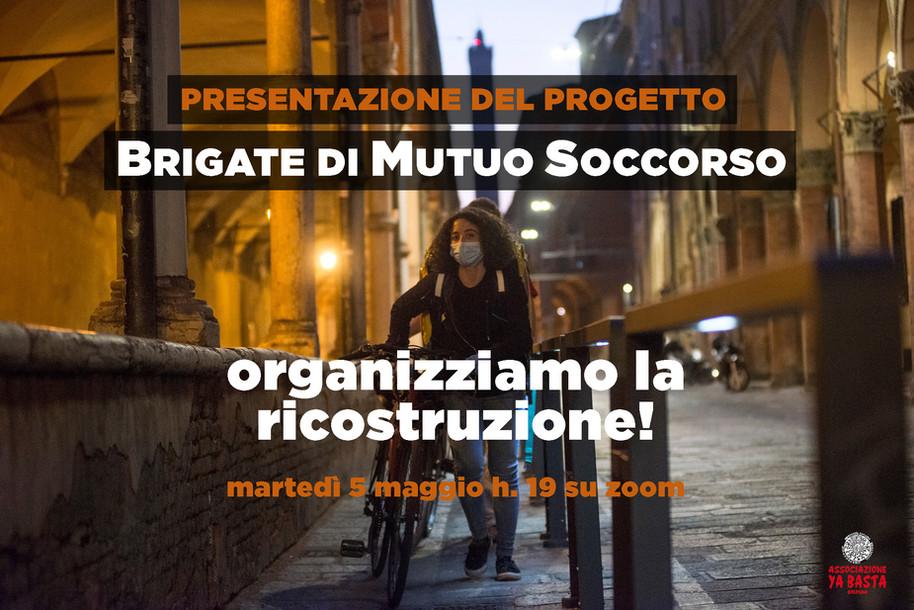 NASCONO LE BRIGATE DI MUTUO SOCCORSO - ORGANIZZIAMO LA RICOSTRUZIONE