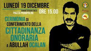 Reggio Emilia- Cerimonia di conferimento della cittadinanza onoraria a Öcalan il 19 dicembre