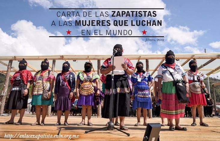 A: Le donne che lottano in tutto il mondo. Da: le donne zapatiste.
