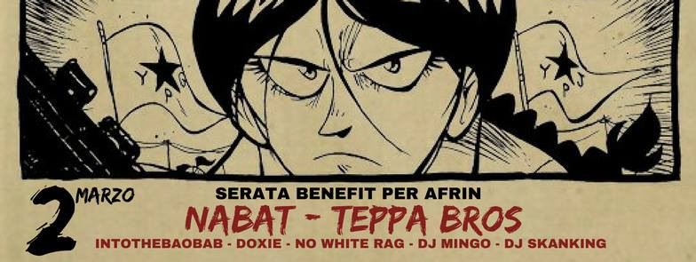 Serata Benefit per Afrin - Cena sociale e concerto dei Nabat,Teppa Bros, Doxie, IntoTheBaobab, NoWhi