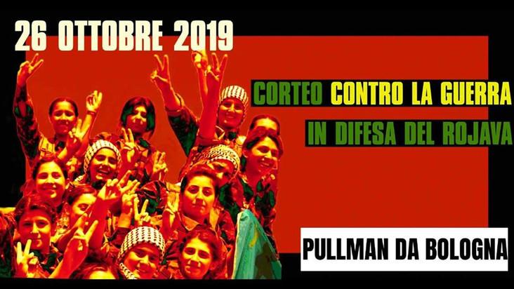 Pullman da Bologna verso il corteo a Milano per il Rojava
