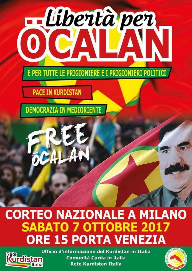 7/10 - Libertà per Ocalan - Manifestazione nazionale a Milano