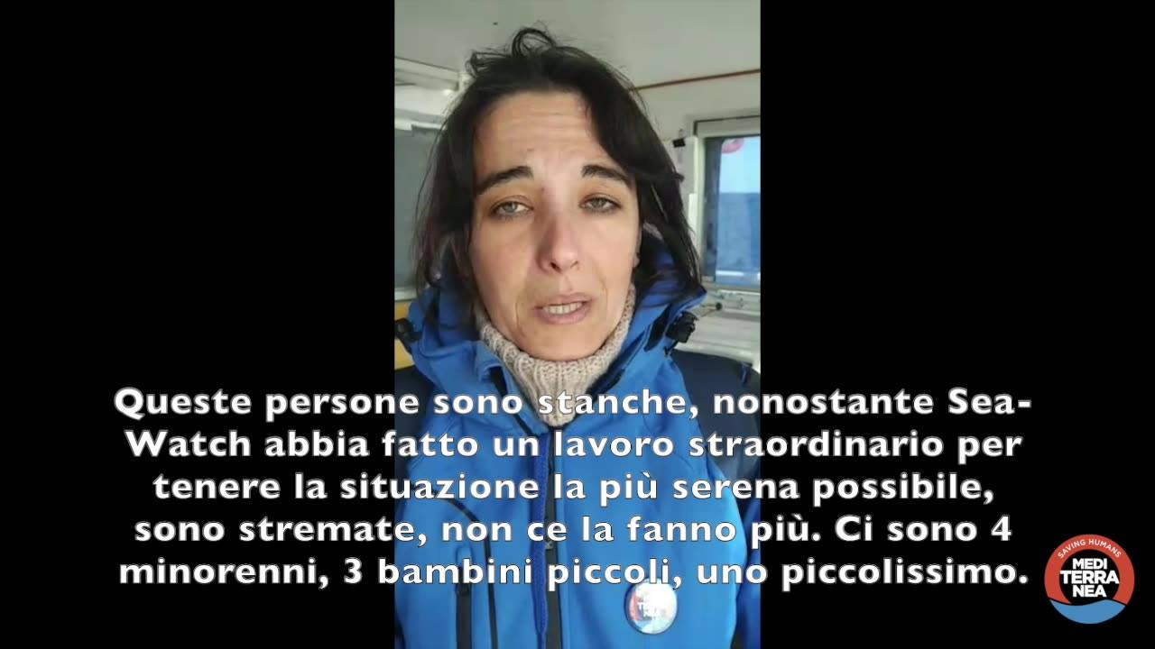 Alessandra Sciurba a bordo della Sea-Watch3
