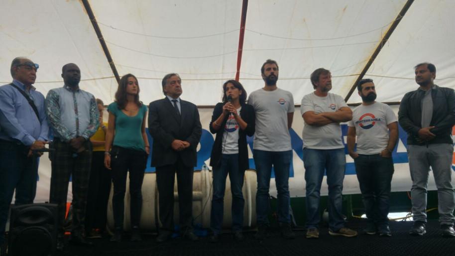 La conferenza stampa al porto di Palermo