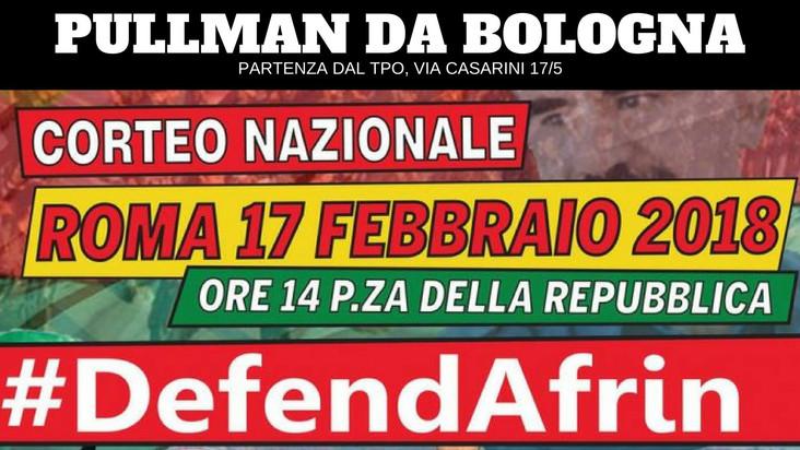 17/02 - PULLMAN DA BOLOGNA PER IL CORTEO NAZIONALE #DEFENDAFRIN