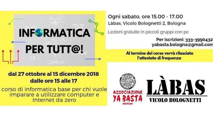 Informatica per tutt@ - RIPARTE IL CORSO DI ALFABETIZZAZIONE INFORMATICA