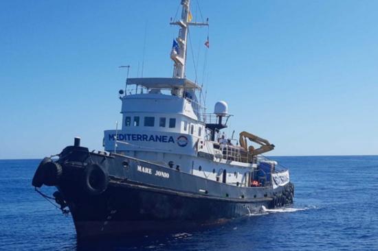 Mediterranea Saving Humans: Mare Jonio in transito a Palermo per prepararsi a ripartire.