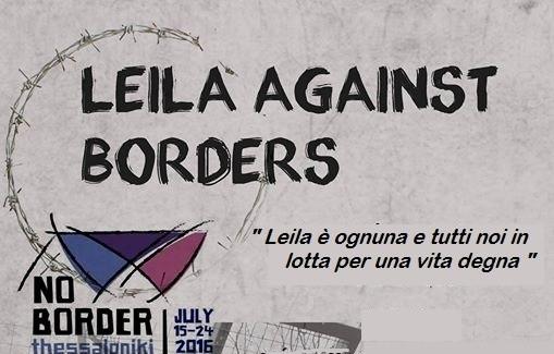 Le tappe della Carovana #LeilaAgainstBorders verso il #NoBorderCamp a Salonicco
