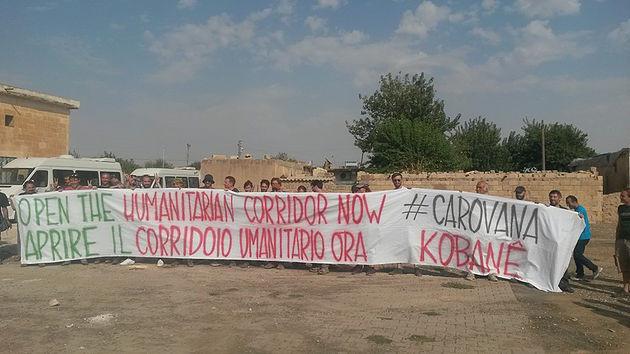 Prima giornata al confine turco-siriano degli attivisti di Ya Basta Bologna, verso la Carovana Inter