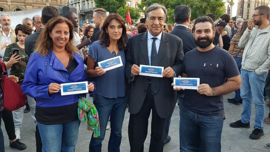 Palermo e il suo sindaco Orlando con Mediterranea