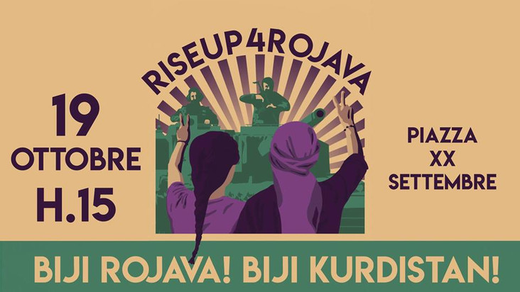 Mobilitazione contro la guerra di Erdogan: al fianco del Rojava!