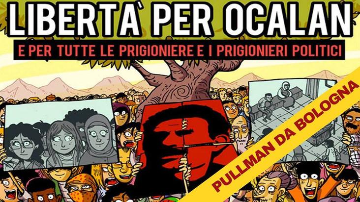 Pullman da Bologna verso il Corteo Libertà per Ocalan e tutte/i le/i prigioniere/i politici
