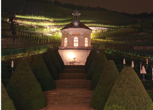 Schloss Wackerbarth bei Nacht