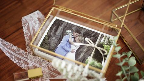 Hochzeitsbilder in Glaskiste