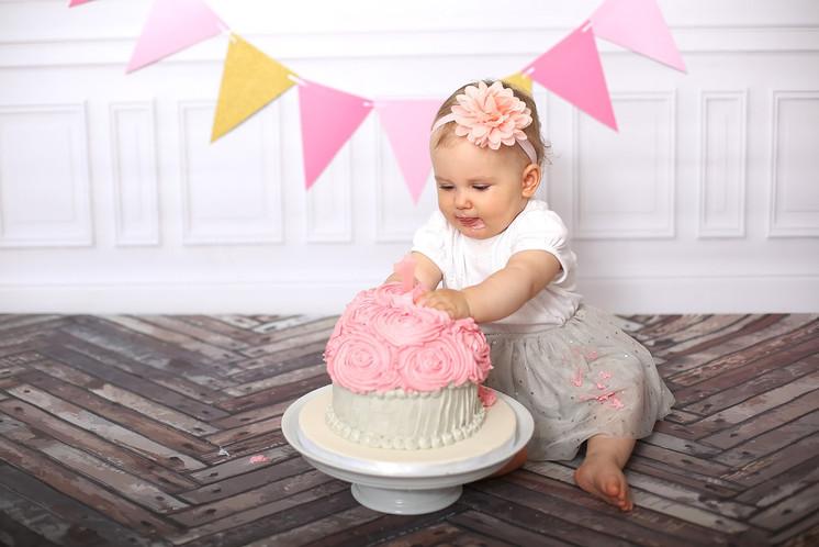 Cake smash Rosa