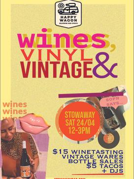 Wines, Vinyl & Vintage 24/04