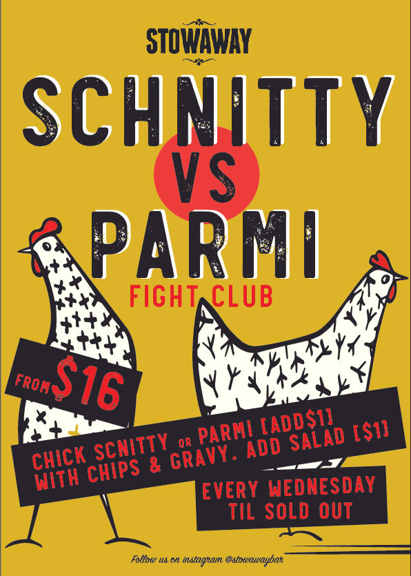 Chicken Vs Parmi Wednesday Spesh