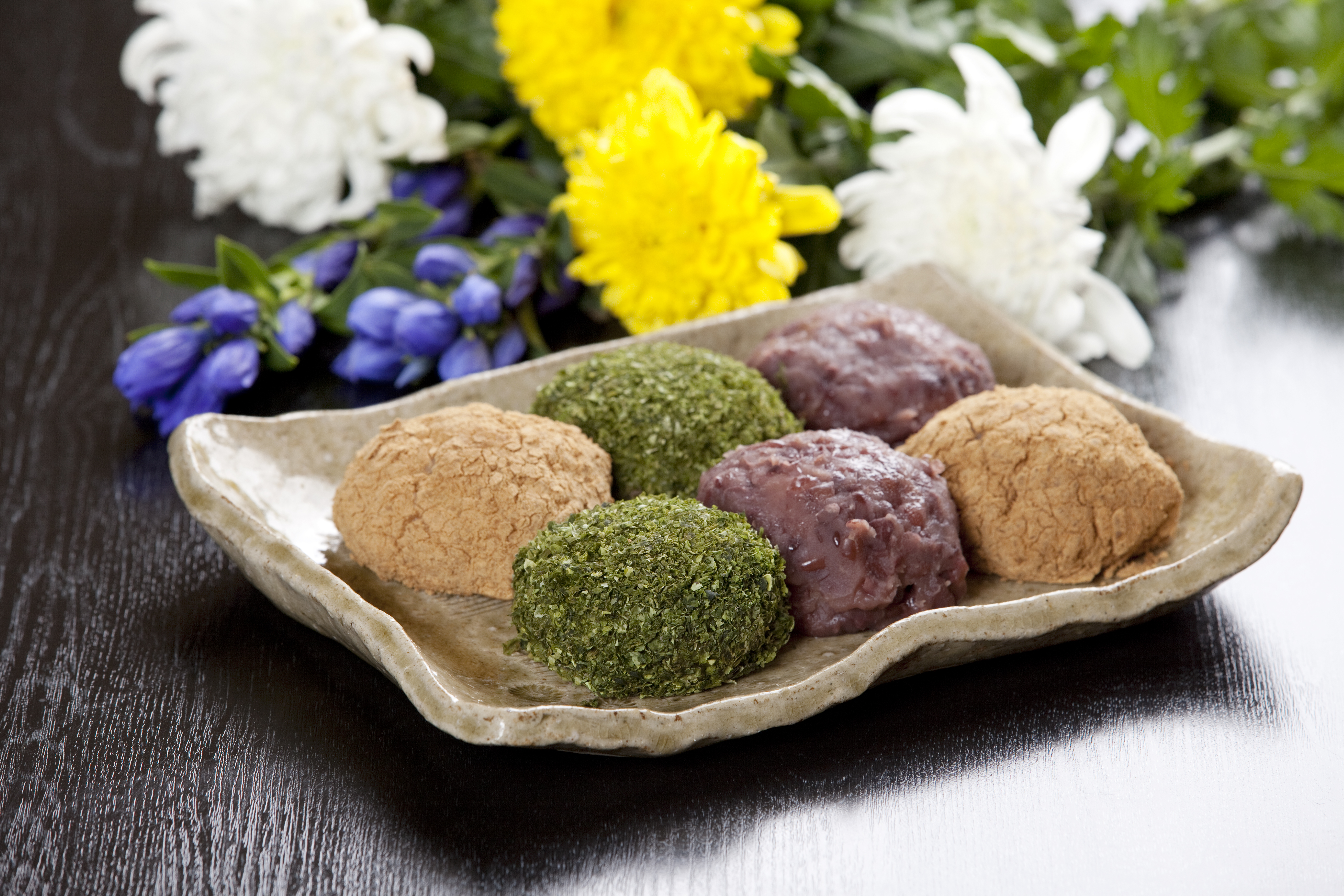 Ohagi - gâteaux de riz japonais