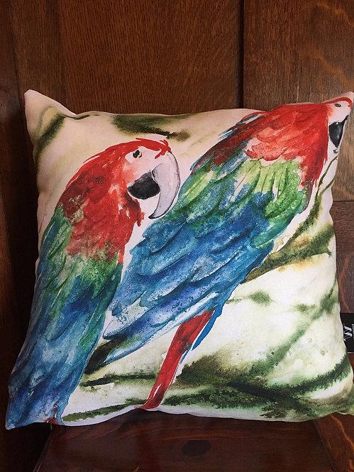Parrots cushion