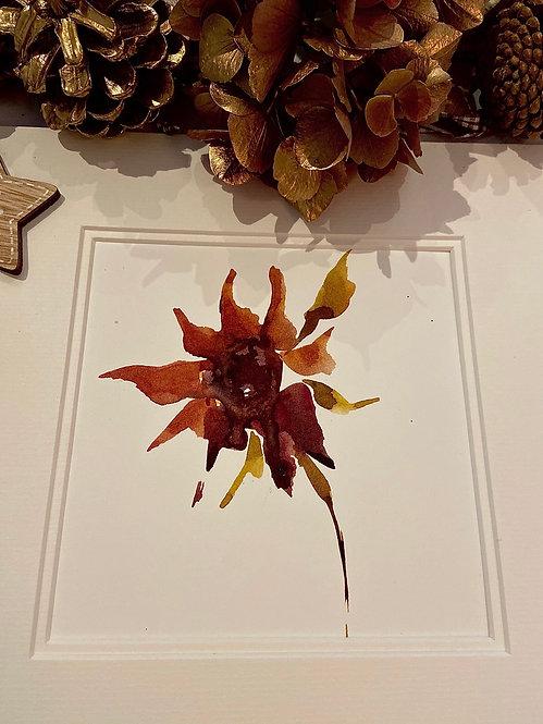 Dark sunflower with mount