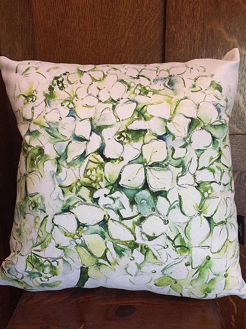 Hydrangea white cushion