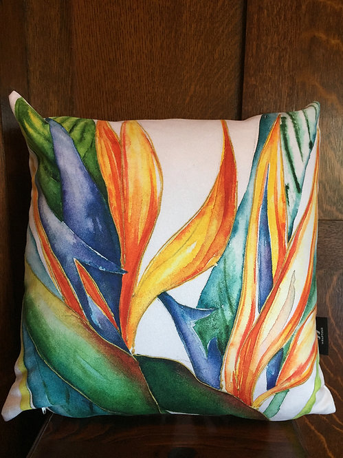 Bird of Paradise cushion