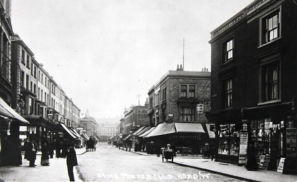 Woodyard looking South from Blenheim Crescent/Talbot Rd (early 1900s).