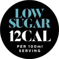Low Sugar 12 Calories per 100ml serving