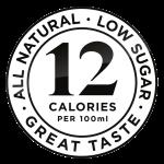 Twelve Below low sugar 12 calories per 100ml