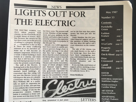 May 1987 Save the Electric.