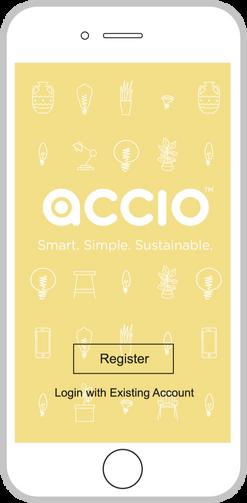 Graphic of Accio mobile app.