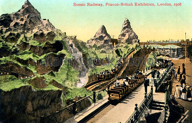 Scenic Railway, Franco-British Exhibition, London 1908.