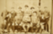 W.J. Horsman is third from left with black flower, Henry Horsman 2nd from right.