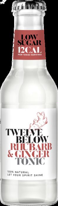 Bottle of TwelveBelow Rhubarb & Ginger Tonic