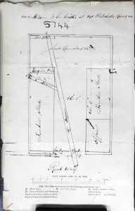 1874 Plan of the layout of the Saw Mill.