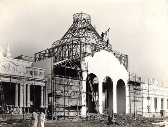 Palace of Fine Art under construction.