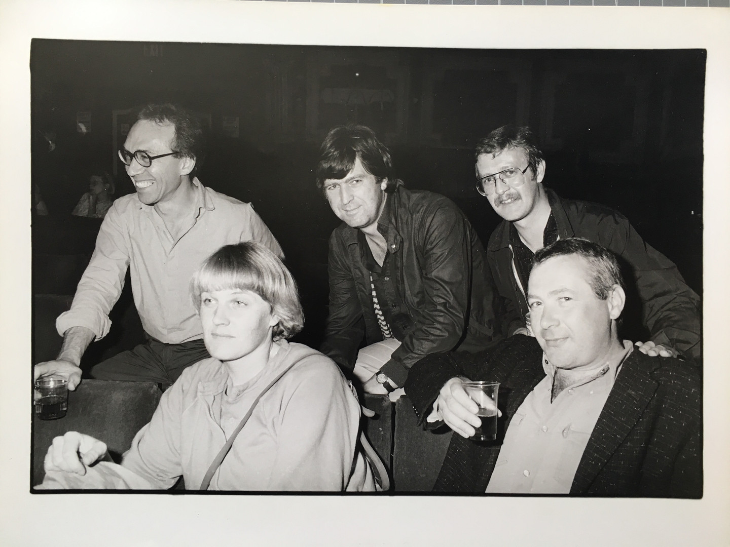 [back row, left to right] Laurie Lewis, Nick , Jim Nelson. [front] Julie & Brian Westbury