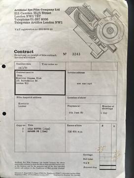 Artificial Eye invoice