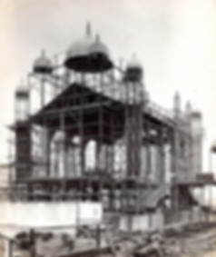 Congress Hall under construction for the Japanese/British Exhibition 1910 at White City.
