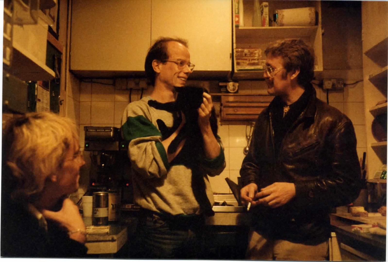 Terry Abernethy, Bob Mellors holding Clint, Jim Nelson.