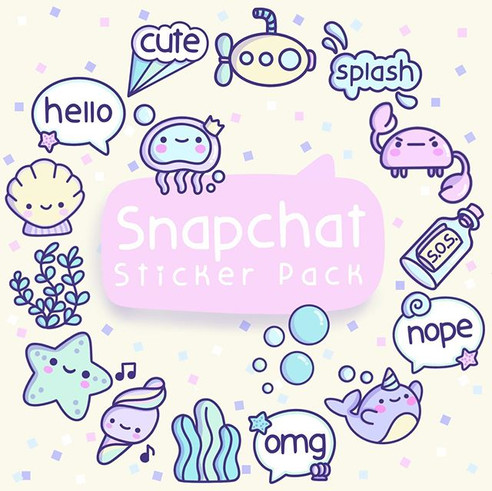 Snapchat Sticker Pack!!