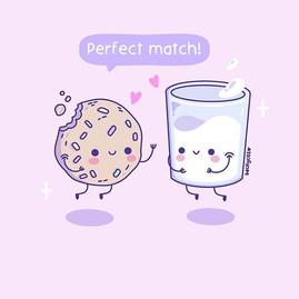 Perfect Match 💕🍪🥛