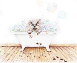 The Ugly Dog Book bubble bath
