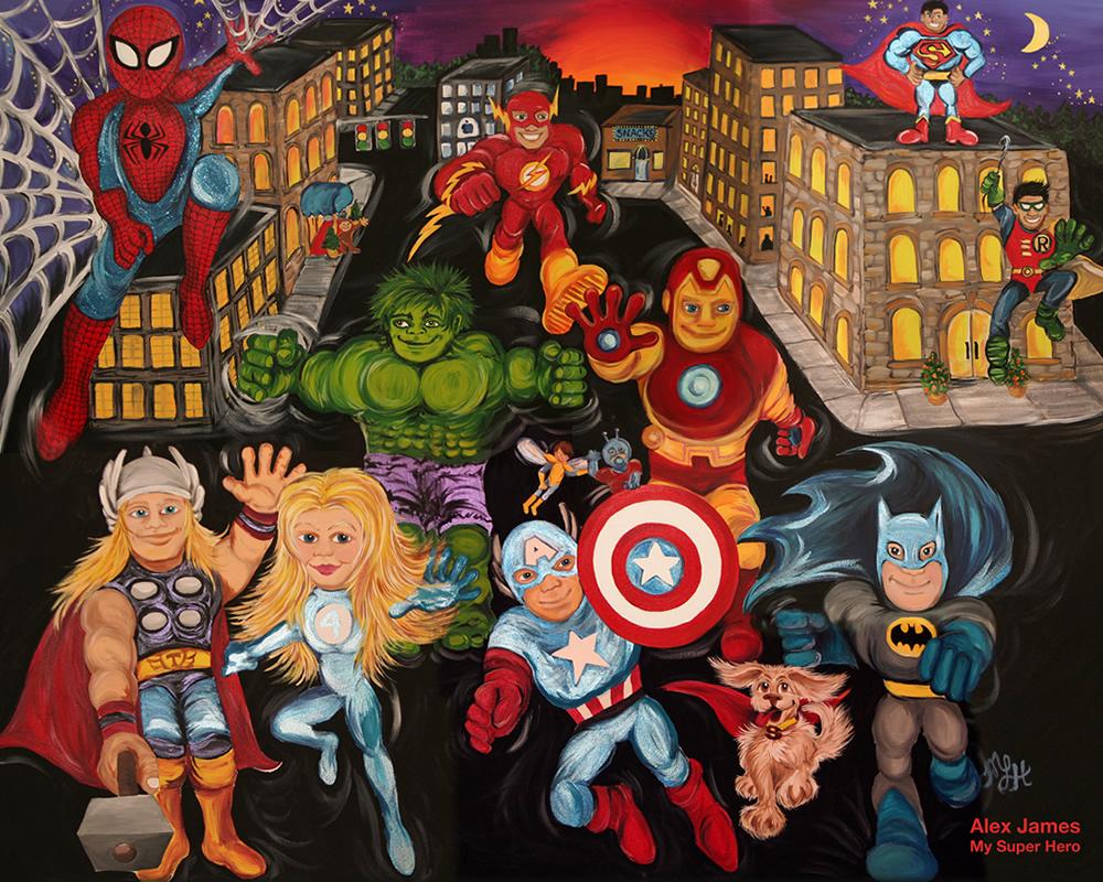 Super Heroes Painting